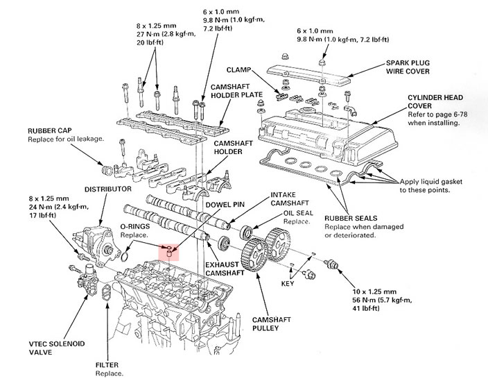 B18c Head Diagram - Data Wiring Diagram Update
