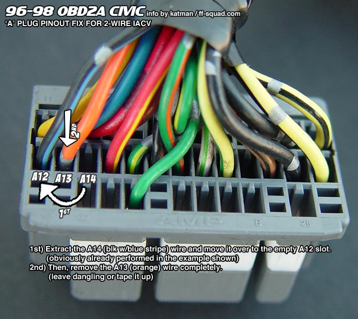 wiring.96 98_a plug obd1 b series engine into obd2a obd2b civic integra * * honda B18B1 Engine at cita.asia